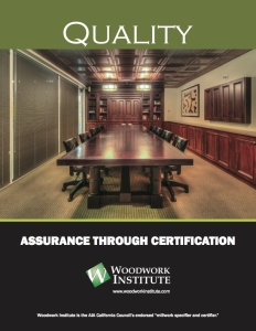 Image of the cover of the Woodwork Institute Quality brochure for architects