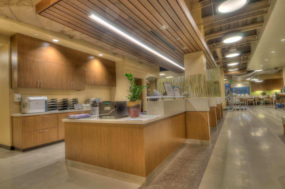 Image of the lobby of the Sansum Clinic Foothill Medical Office Building