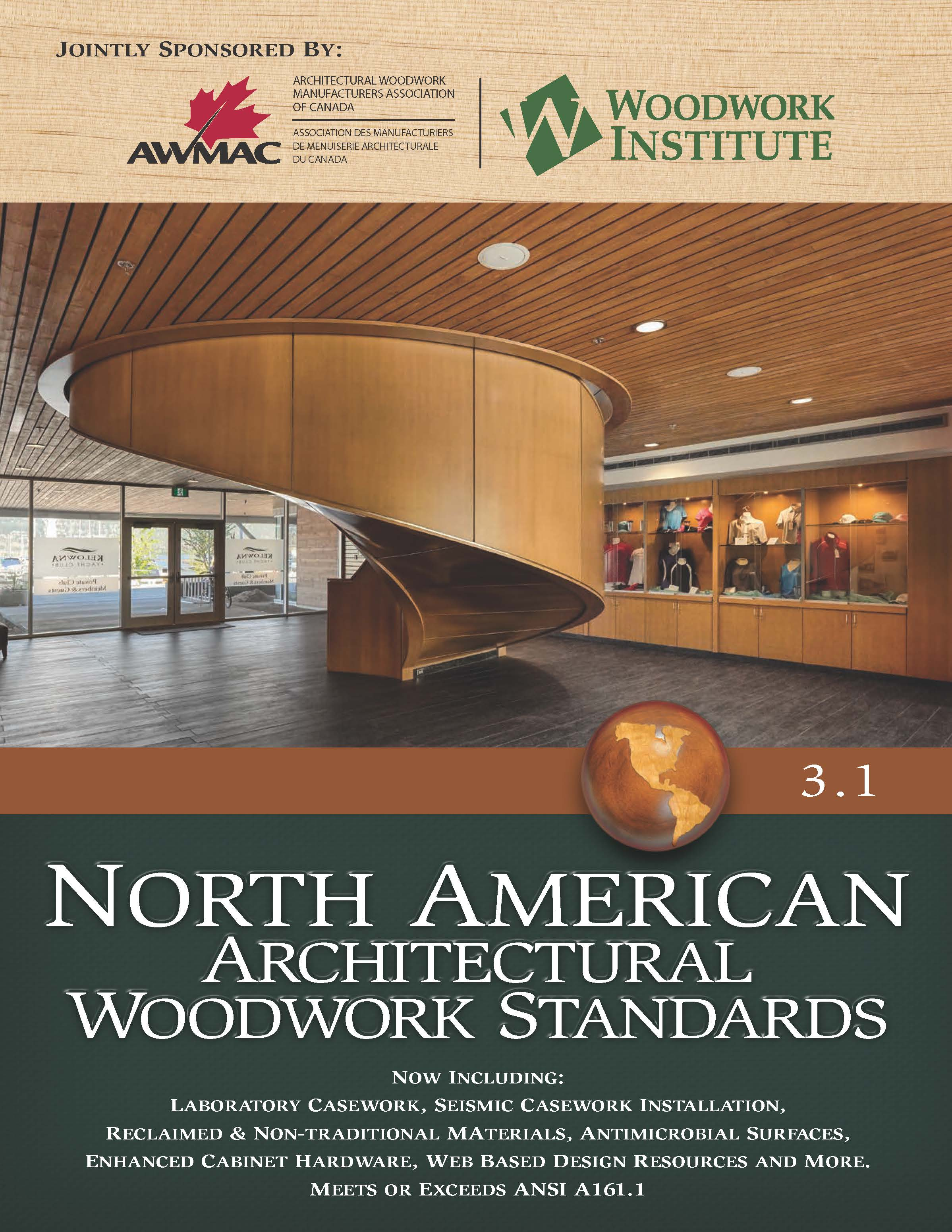 Cover image of the North American Architectural Woodwork Standards 3.1