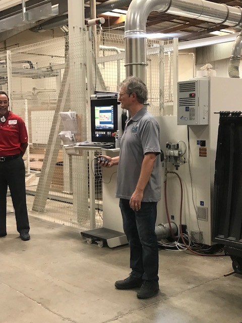 Mike Hansen, during a tour of his millwork shop, S&H Cabinets